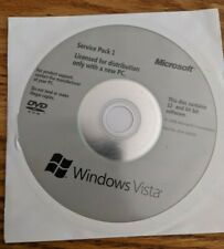 Genuine Microsoft Windows Vista SP1 32 Bit & 64 Bit Physical Disc Back up Media