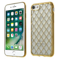 For iPhone 8 7 6 6S Luxury Silicone Gel Case Bumper Cover Stylish Back Clear New
