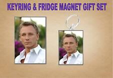 Daniel Craig Key Ring & Fridge Magnet Set