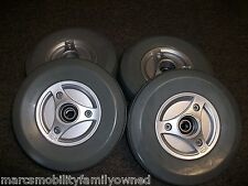 4 Permobil M300 Caster Wheel Front and Rear Tires with Rim and Bearings
