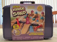 Spin Master Kinetic Folding Sand Box 3 Lbs Sand With Tools And Toy Molds-New