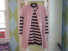 PLUM PUDDING girls sweater dress ss long cable cardigan leg warmers set 7/8