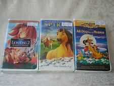 Lion King 2/ Spirit Stallion/ All Dogs Go To Heaven Disney Children's VHS Tapes