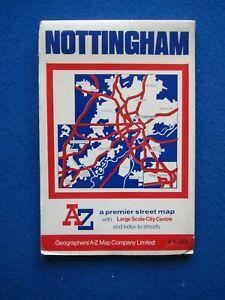 A-Z  Colour Street Map & Street Index - Nottingham    c1970's