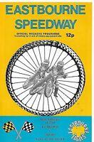 Speedway Programme>EASTBOURNE EAGLES v  OXFORD CHEETAHS Oct 1976