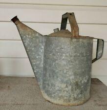 Vintage Antique Number 12 Galvanized Metal Watering Can with Sprinkler Head