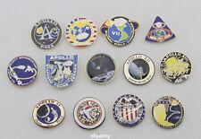 NASA Apollo Program Apollo 1,7,8,9,10,11,12,13,14,15,16,17 Lapel Pin set-replica