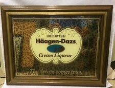 Haagen Dazs Cream Liqueur Mirror Framed Pub Bar Decor The dream comes true