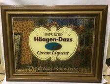 Haagen Dazs Cream Liqueur Mirror Framed Pub Bar Decor The dream comes true