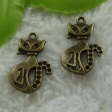 free ship 100 pcs bronze plated fox charms 26x16mm #3337