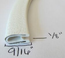 "1/8"" x 9/16""  WHITE Edge Trim Lock Vinyl PVC Car RV Boat Seal Permanent Grip"