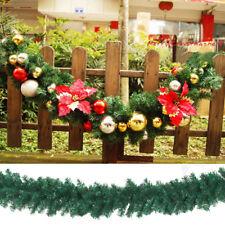 2.7m (9ft) Home Pine Christmas Garland Fireplace Wreath Xmas Decor 160 Heads Pop