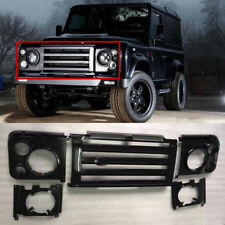 LAND ROVER FRONT Black SVX DEFENDER Grille HEADLAMP SURROUND Complete NEW