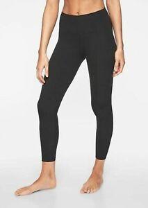 ATHLETA Elation 7/8 Tight Leggings M PETITE MP Black Yoga Pants #293142