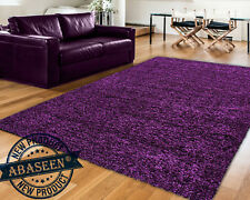 Extra Large PURPLE Shaggy Rug Rugs Carpet New Modern Soft Thick Antished Carpet