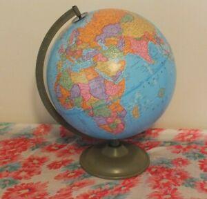 Large Vintage World Globe The George F Cram Company's Imperial Globe