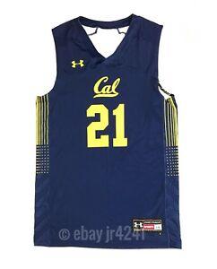 Under Armour California Golden Bears Basketball Men's L Jersey #21 UJKJYKM