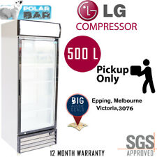 1 Door Display Fridge 500 Litre Commercial Grade Glass Drink White Pickup
