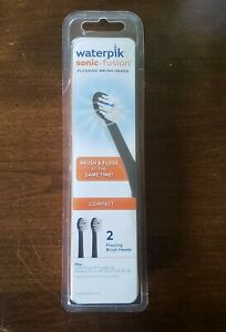 Waterpik Sonic-Fusion Replacement Flossing Brush Heads-2 PK *BRAND NEW & SEALED*