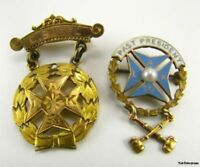 Set of Two Knights of St John Pins - Ladies Auxiliary Past President