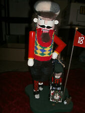 """CLUBHOUSE COLLECTION NUTCRACKER WITH GOLF CART  15"""""""