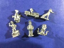 Monopoly 2001 Simpsons Edition Replacement Pieces: 6 Pewter Tokens Charms Homer