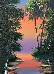 Florida Knife Oil Painting - Purple Haze - Highwaymen Like- Lost Years Art 2.1