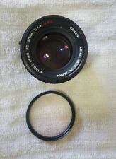 Canon FD 50mm f1.4 S.S.C. Lens 50/1.4 SSC GOOD WORKING CONDITION