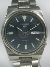 Vintage Seiko 5 Automatic Movement Day Date Dial Mens Analog Wrist Watch AC114