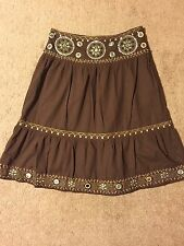 Sweet By Miss Me Womens Skirt. Fabulous Details Beads And Sequins. Size Small