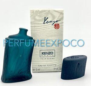 Kenzo POUR HOMME Cologne for Men 5ml-0.17oz EDT Splash *DISCONTINUED* (C28
