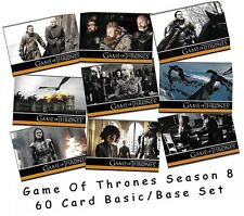 Game Of Thrones Season 8 (Eight) - 60 Card Basic/Base Set - Rittenhouse 2020