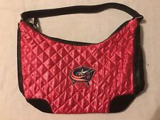 Columbus Blue Jackets NHL Hockey Women's Purse Pink Quilted Hobo by Littlearth