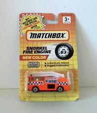 MATCHBOX VINTAGE SNORKEL FIRE ENGINE TRUCK RESCUE UNIT MB63 MOC 1990 DIECAST