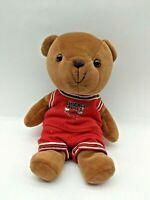 "Teddy Bear Plush 7.5"" Chicago Bulls NBA Play by Play 1997 Stuffed Animal Toy"