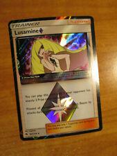 NM Pokemon LUSAMINE Prism Star Card LOST THUNDER Set 182/214 Holo Rare Trainer