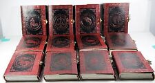 "Set of 12 - SIGNS OF THE ZODIAC - Handmade Leather Journals 5"" x 7"" Astrological"