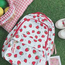 Japanese Harajuku Sweet Strawberry Print School Bag Wild Student Backpack Gift