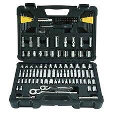 "Stanley Socket Wrench Set 123 pc.1/4"" & 3/8"" Drive Ratchet SAE Chrome Vanadium"