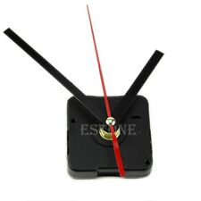 New Clock Quartz Movement Mechanism Red and Black Hands DIY Replacement Part Set