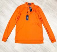 Ralph Lauren Polo Top Long Sleeve Orange NEW WITH TAGS Sz Small Stretch