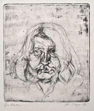 Horst Peter Meyer - Weibliches Porträt - Radierung - 1972