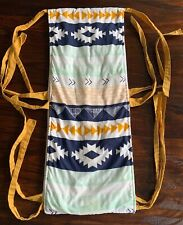 Handmade Custom Aztec Tribal Cotton Padded Crib Rail Chew Guard Gold Ties 49�