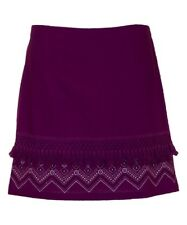 A-Line Cotton Skirt Plus Size 22 Purple T-110