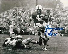 Lenny Moore Penn State Nittany Lions Hof 75 Action Signed 8x10