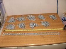 5 X 2800 mm Longitudes, plata cadena de bola de etiqueta de perro-, 6.5 mm, de alta resistencia + Conectores.