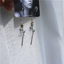 Statement Long Earrings Unique Jewelry Gifts Women Rose Flower Pin Drop Earrings