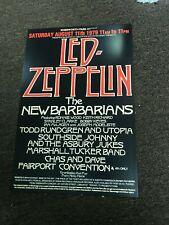 Led Zeppelin New Barbarians Todd Rundgren 1979 Cardstock Concert Poster 12x18