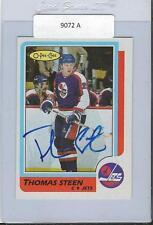 Thomas Steen 1986 OPC Autograph #257 Jets