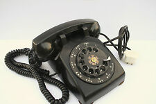 Western Electric Rotary Dial Telephone Black Desk Top Phone C/D 501 1952 Vintage